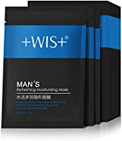 WIS Natural Hydrating Face Mask for Men Oil Control Facial Mask Sheet 10 Packs, Deeply Moisturzing, Shrink Pores & Treat...