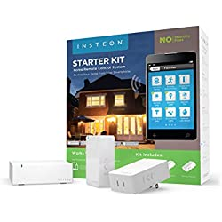 Insteon Smart Lamp + Bridge Starter Kit, Includes 2 Smart Dimmer Plugs and Bridge, Works with Alexa, Uses Superior Dual-Mesh Wireless Technology for Unbeatable Reliability - Better than Wi-Fi, Zigbee and Z-Wave