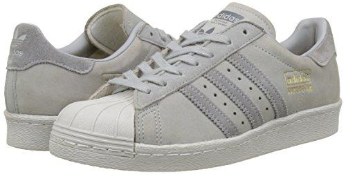 Moyen Pour Superstar Hommes 80s Gris Adidas Baskets Moyen Diffrentes Couleurs gris tvqawO7Adx