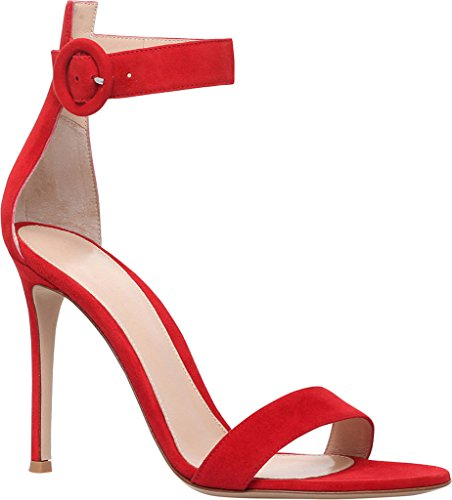 Tira de Rojo Kolnoo Mujer tobillo FvqnwZ