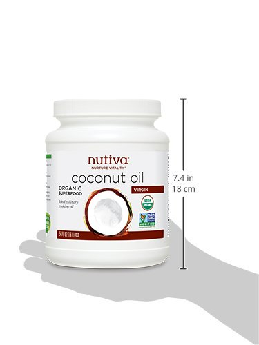 Nutiva Organic, Cold-Pressed, Unrefined, Virgin Coconut Oil from Fresh, non-GMO, Sustainably Farmed Coconuts, 54-ounce by Nutiva (Image #6)