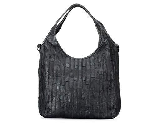 Black Sac Lady Main Personnalité Épaule Rayures Couleur Couture Une Cuir À Mode Diagonale De qw1Oqv8