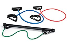 SPRI Xercise Bar Kit with 3 Xertubes