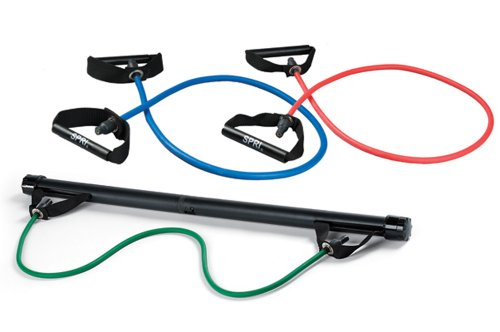 SPRI Xercise Bar Kit with 3 Xertubes by SPRI
