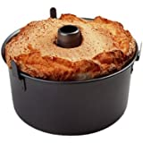 Chicago Metallic Professional 2-Piece 9.5-Inch Angel Food Cake Pan with Feet