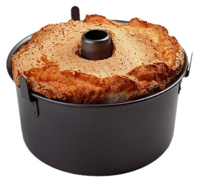 Chicago Metallic Professional 2-Piece 9.5-Inch Angel Food Cake Pan with Feet (Chicago Metallic Angels Non Stick Pan)
