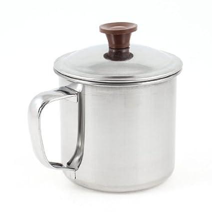Amazon.com: Taza de agua de acero inoxidable w Cap 300 ml ...