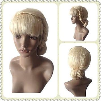 GSP-Superior cantidad larga trenza adultos Cosplay pelucas Cosplay rubia sintética agitando para mujer peluca