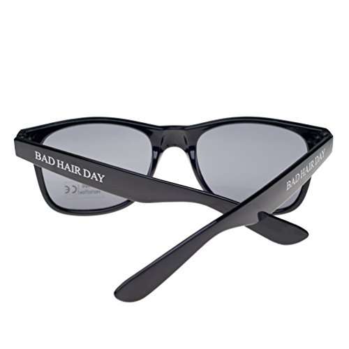 con Negro Gafas negro ahumados unisex Bad de sol TM sun cristales Day 4sold diseño ochentero Hair wSWpvIHq