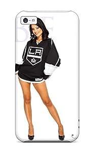 Iphone 5c Case Cover - Slim Fit Tpu Protector Shock Absorbent Case (los-angeles-kings ) by kobestar