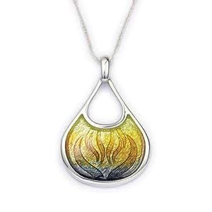 Tercero de plata y colgante de esmalte de fuego (3 colores) - ep293 - brasa