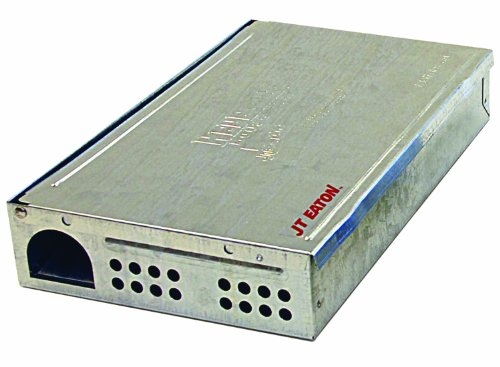 - JT Eaton 420 Repeater Low Profile Multi Catch Mouse Trap with Solid Steel Lid, 10-1/4