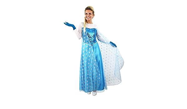 Ilovefancydress - Disfraz de Reina de las Nieves (vestido largo ...