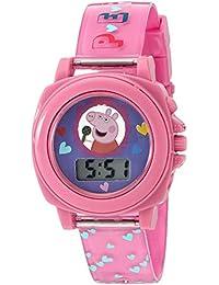 Girl's Quartz Plastic Watch, Color:Pink (Model: PPG6000)