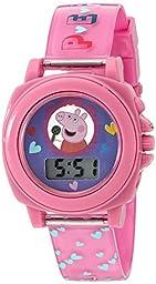 Peppa Pig Girl\'s Quartz Plastic Watch, Color:Pink (Model: PPG6000)