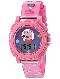 Peppa Pig Girl's Quartz Plastic Automatic Watch, Color:Pink (Model: PPG6000)