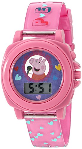 Peppa Pig Girl's Quartz Plastic Watch, Color:Pink (Model: PPG6000)