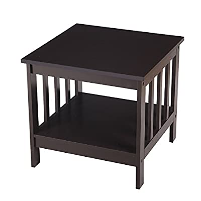 ELEGAN Accent Square End Table with Open Shelf