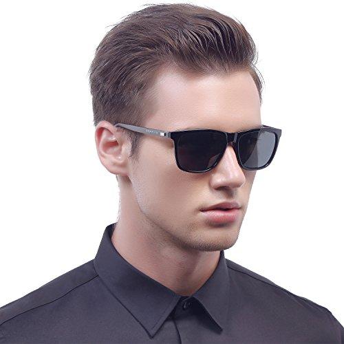 ce0591fd3fd MERRY S Unisex Polarized Aluminum Sunglasses Vintage Sun Glasses For  Men Women S8286 (Black