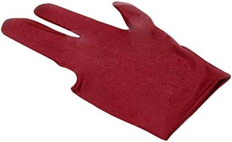Alelife 3本指 スパンデックス スヌーカー ビリヤード用グローブ プール 左手開き 3本指