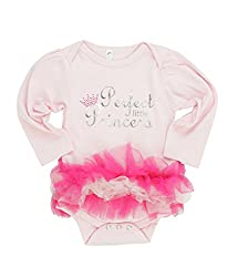 Bubby & Belle® Infant Light Pink Long Sleeve 'Princess' Bodysuit - Pink - 0-3m