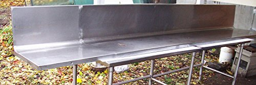 12ft Stainless Steel Backsplash 142