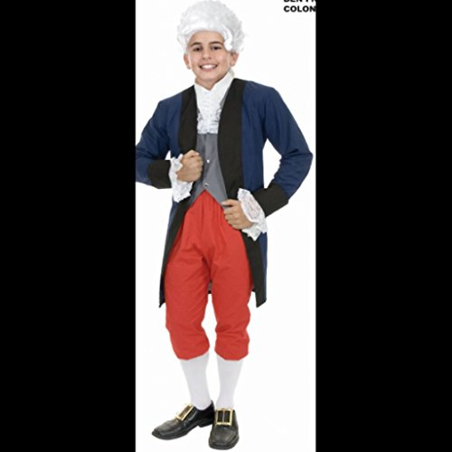 Charades Little Boy's Benjamin Franklin Colonial Childrens Costume, as Shown, X-Large -