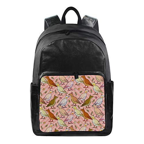Oarencol Cute Cartoon Animal Bird Farm Ducks Pink Zigzag Chevron Backpacks Travel Laptop Daypack Waterproof School College Bag Bookbags (Best Duck Loads 2019)