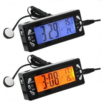 Amazon.es: Coche LCD digital reloj termómetro higrómetro automático temperatura