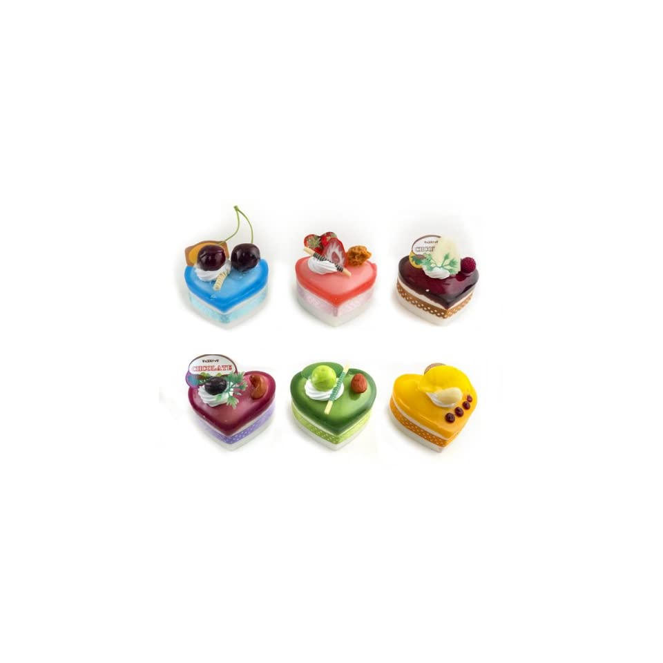 Iparty123 3D Refrigerator Fridge Magnet Fake Food Heart Shaped Cake 6 variety Pack Party Favors or Gifts