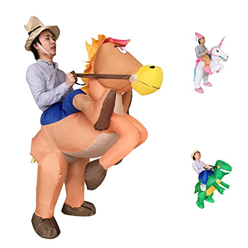 [Inflatable Cowboy Cowgirl Ride Horse Adult Fancy Easter Halloween Party Dress Costume] (Plus Size Adult Halloween Costumes Ideas)