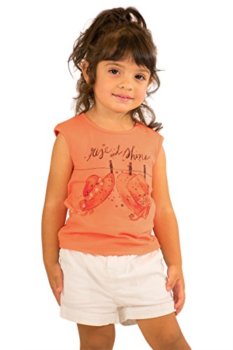 Pulla Bulla Toddler Girl Sleeveless Tee Graphic Tank Top Size 2T Carrot