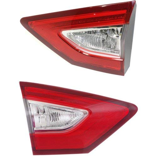 Tail Light Set of 2 for Fusion 2013-2016 Right Side and Left Side Inner Assembly Energi/Titanium Models CAPA