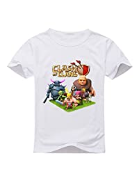 Custom Clash Of Clans Boy's Kids T-Shirt White M