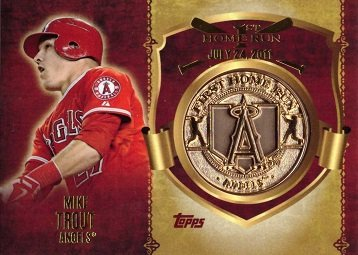 Amazoncom 2015 Topps First Home Run Gold Medallions Mike