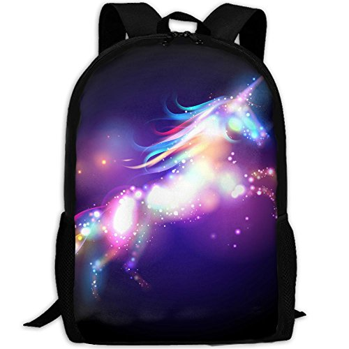 Unicorn Concept Logo Interest Print Custom Unique Casual Backpack School Bag Travel Daypack - Sunglasses Custom Logo Bag