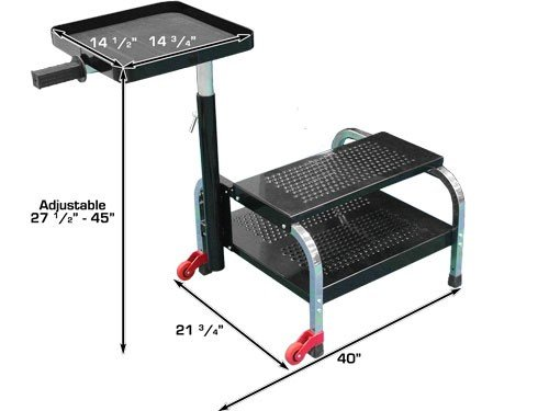 Dynamo DYOHTSF2219 Portable Step with Shelf