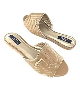 M&Y Woman slides slipper-Beige