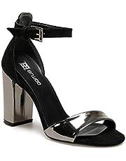 19S-825 Siyah Kadın Sandalet