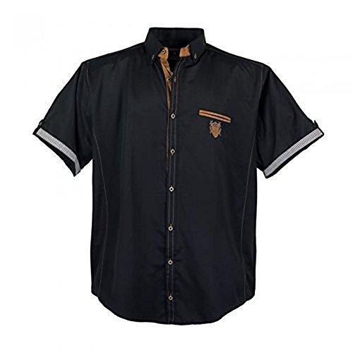 Modernes Herren Hemd kurz Arm in Schwarz in den Größen: 3XL 7XL