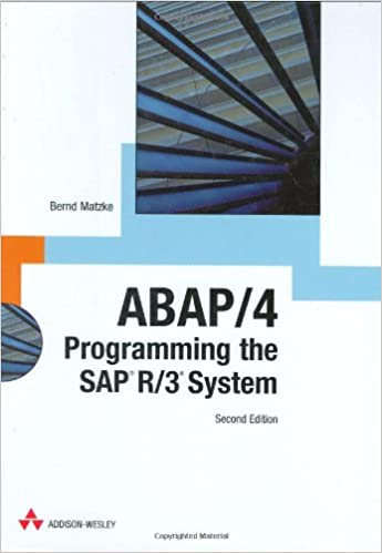 ABAP/4: Programming The SAP R/3 System 2nd Edition