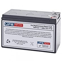 Power Kingdom PS7-12 12V 7.2Ah Replacement Battery with F1 Terminals