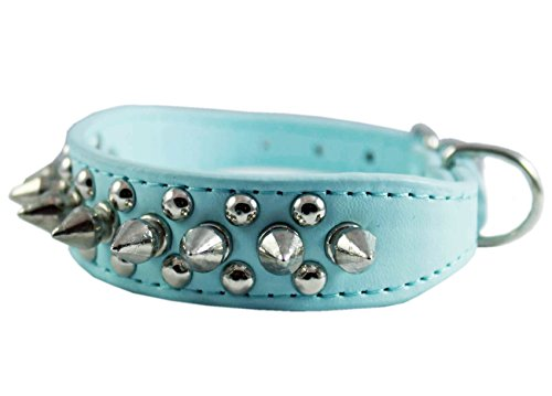 Faux Leather Dog Pet Collar (8