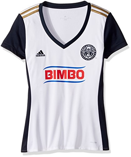 fan products of adidas MLS Philadelphia Union Adult Women Replica S/Wordmark Jersey,X-Large,White