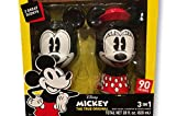 Disney Mickey The True Original Micky & Minnie Character Shaped 3 in 1 Body Wash, Shampoo & Conditioner 14 fl oz each