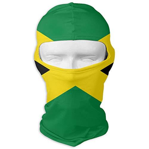 (UTKYH Jamaica Flag Outdoor Ski Face Mask Motorcycle Bike Breathable Full Face Mask Men and Women Balaclava Hood)