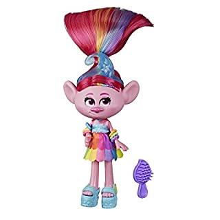 Trolls DreamWorks Glam Poppy Fashion Doll with Dress, Shoes, and More, Inspired by The Movie World Tour, Toy for Girl 4 Years and Up