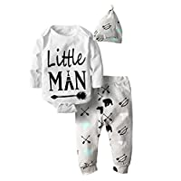 Big Elephant Baby Boys' 3 Piece Graphic Long Sleeve Pants Clothing Set H30