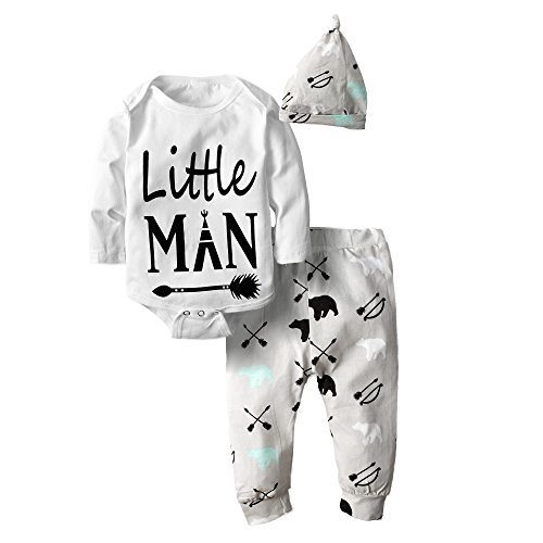 Big Elephant Baby Boys' 3 Piece Graphic Long Sleeve Pants Clothing Set (Boys Easter Clothing)