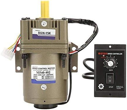 SSY-YU 減速モーター、AC 220V 40W低ノイズ調整可能Rtae単相非同期歯車工業溶接機の機器をパッケージ化するためのモーター(15K) 電動工具用